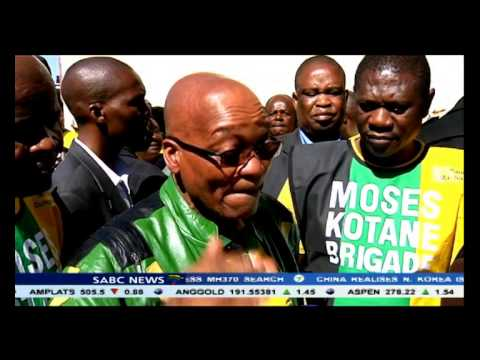 President Zuma took campaigning to the East Rand