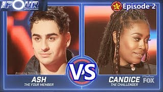 The Four  Candice Boyd vs Ash Minor with Results &Comments The Four Episode 2