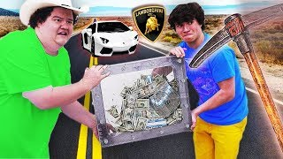 WIN LAMBORGHINI AND $10,000 WHOEVER BREAKS THE BOX (UNBREAKABLE BOX CHALLENGE)