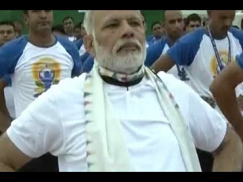 International Yoga Day: People click selfies with PM Modi at Capitol Complex, Chandigarh
