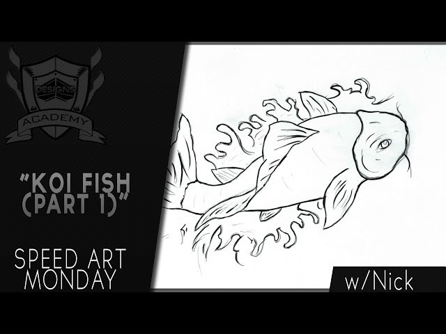Speed Art Monday | Koi Fish Outline | By: Nick (Part 1)