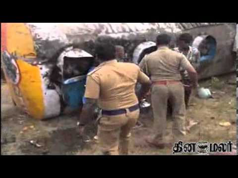 Police Lathi Charge Public Near Villupuram - Dinamalar March 3rd 2014 Tamil Video News video