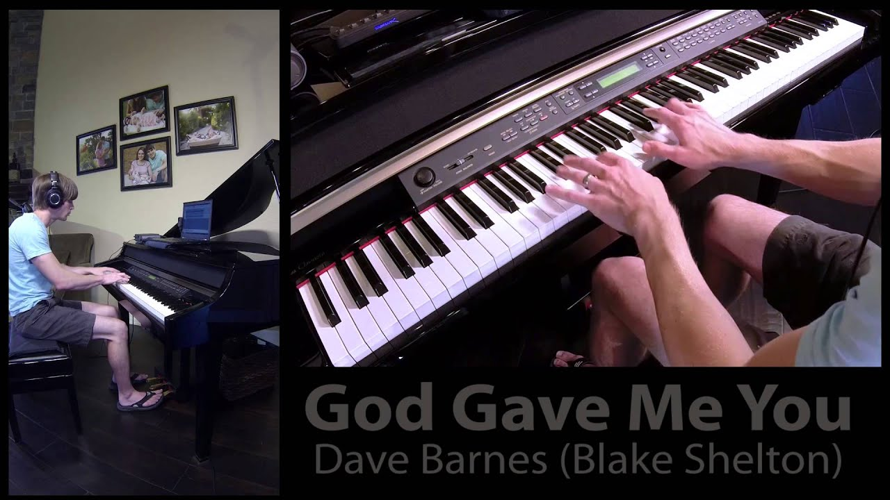 how to play god gave me you on piano