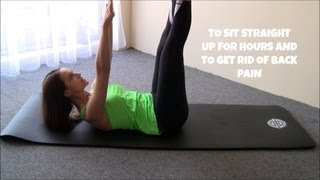 Get Better Posture, Get Rid of Back Pain - Pelvic Floor & Core Muscles Pilates Exercises