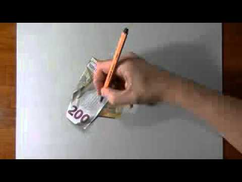 How I draw a 200 euro banknote By (Marcello Barenghi)