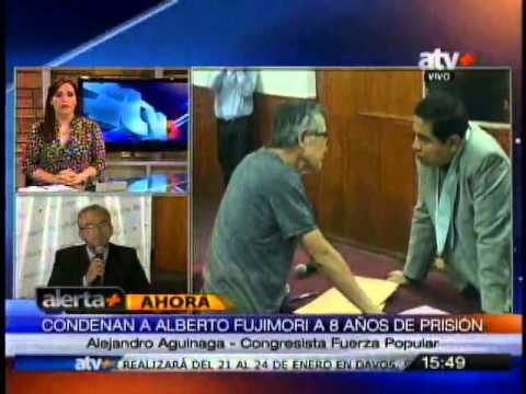 Reacciones tras condena a Alberto Fujimori, declaraciones Héctor Becerril y Alejandro Aguinaga