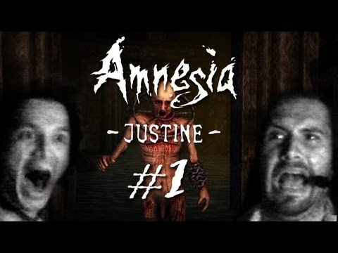 Amnesia: Justine mit Facecam #1 - Let's Play Amnesia Justine German