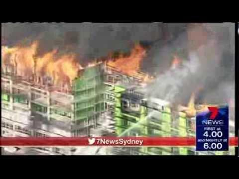 Fire at Sydney CBD construction site
