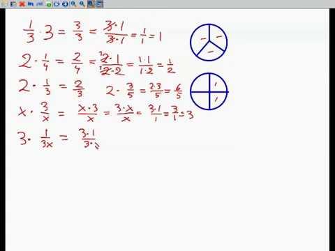 Brøker - at gange med et tal og forkorte. x i nævner.