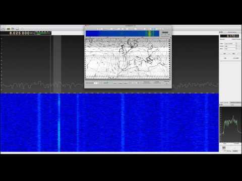 HF Weatherfax Demodulation - RTL SDR, Janilab HF Upconverter, GQRX, Cocoamodem Mac
