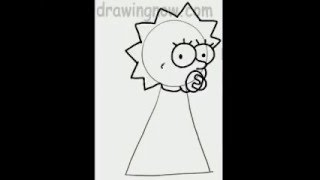 Learn to Draw Maggie from the Simpsons