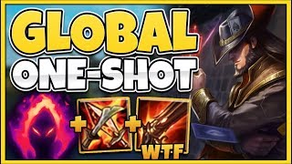 WTF! NEW TF CAN LEGIT ONE-SHOT FROM A MILE AWAY! (BROKEN DAMAGE) - League of Legends