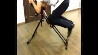 The video tell how to use the 5 minutes shaper with different workout position