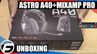 Astro A40 Headset With Mix Amp Pro Unboxing