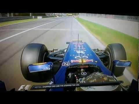 Vettel team radio about retired - Monza (Full team radio) 2012