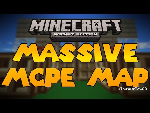 MASSIVE MCPE MAP Huge Upscaled World Pocket Edition Map Review
