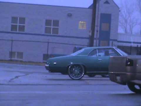 72 pontiac catalina 26 inch asanti wheels donk 454 big block jl audio suede pheonix gold Video
