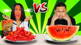 SPICY VS HEALTHY FOOD CHALLENGE!