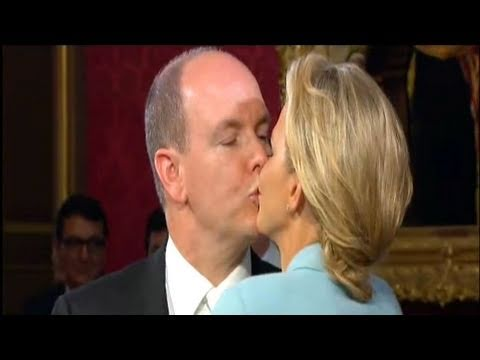 Prince Albert + Charlene Wittstock - Civil Ceremony, Monaco Royal Wedding 2011 | FashionTV - FTV