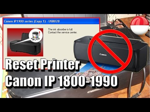 Ink absorber full FIX! RESET Canon IP1800-1980!