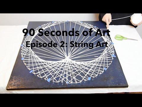 90 Seconds of Art: E2 - String Art: Heart Strings