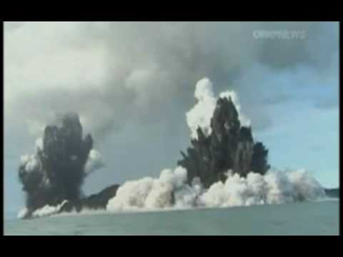 TVNZ One News - Undersea Volcano Eruption 09 [ Tonga ] Video