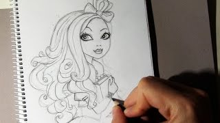 Cómo dibujar a Apple White de Ever After High paso a paso