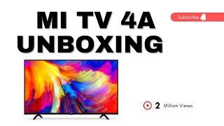 MI TV 4A UNBOXING Video Live demo