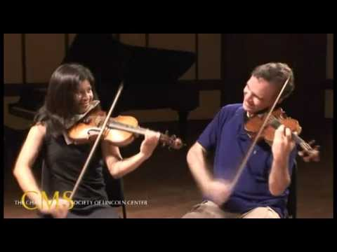 Adele Anthony and Gil Shaham, violins - 2010-2011 CMS Artist Interview