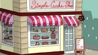 How to draw a simple cake shop