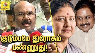 Minister Jayakumar slams TTV Dinakaran & Sasikala