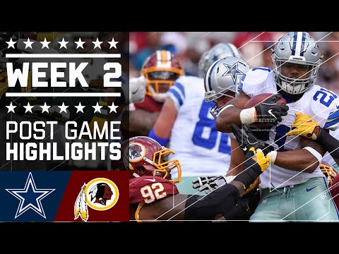 8 Cowboys Vs Redskins Nfl Week 2 Game Highlights