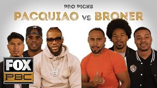 Pros predict who will win between Pacquiao and Broner | PRO PICKS | PBC ON FOX