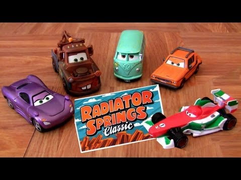 Cars 2 Race Team Fillmore, Race Team Mater, Francesco Bernoulli Disney Pixar  toys by Blucollection