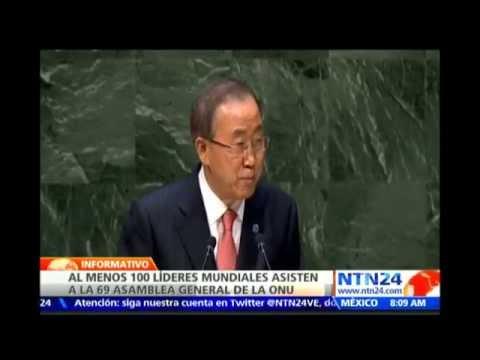 Ban Ki-moon abre debates de Asamblea de la ONU pidiendo devolver esperanza al mundo