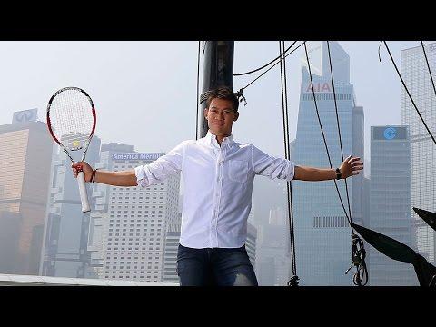 Kei Nishikori's Media Day In Hong Kong