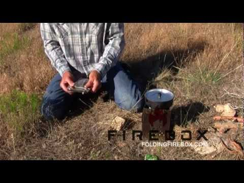 Best Folding Camp Stove / No Trace Campfire / Prepper Gear