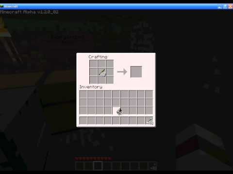 how to make an pointing arrow in minecraft
