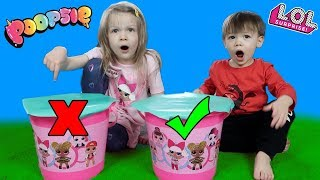 Don't SMASH the Wrong Mystery L.O.L. Surprise Bucket Challenge! With Poopsies & LOL Fuzzy Pets!