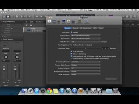 Logic Pro X Tutorials - How to setup your Audio interface