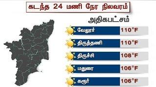 Tamil Nadu: Heat waves in North, rain in south