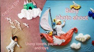 DIY creative photography at home creative baby photoshoots   newborn photography   photography ideas