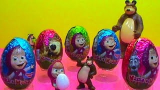 Masha and the Bear surprise eggs Masha y los huevos sorpresa del oso