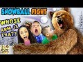 GRIZZLY BEAR ATTACK! 😱 FGTEEV Family Loses Arm? ☠ SNOWBALL FIGHT Gaming Battle Challenge ❄ KING ME! MP3