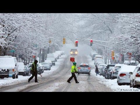11 estados americanos declaram emergência por nevasca