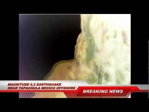Magnitude 6.3 Earthquake Strikes Offshore of Tapachula Chiapas, Mexico January 21, 2012
