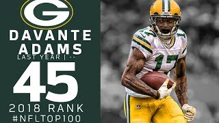 #45: Davante Adams (WR, Packers) | Top 100 Players of 2018 | NFL