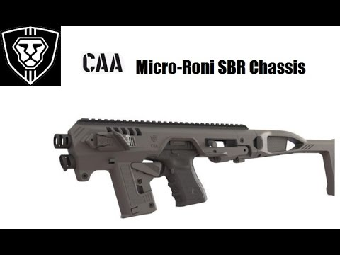 Micro Roni SBR Chassis for Glock and other popular Pistols