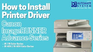 How to Install Printer Driver for Canon imageRUNNER Advance Series