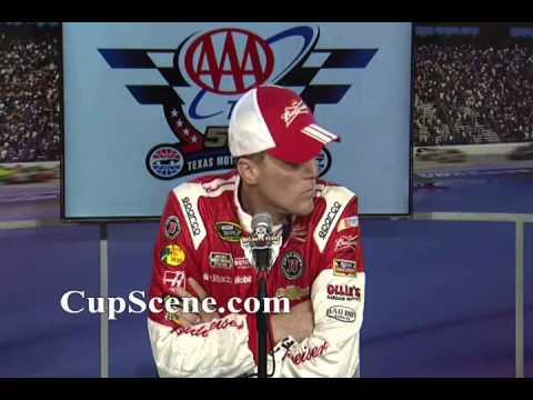 NASCAR at Texas Motor Speedway Nov. 2014: Kevin Harvick, Kyle Larson post race